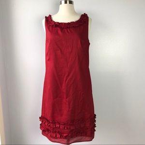 New LOFT Shift Ruby Red Dress